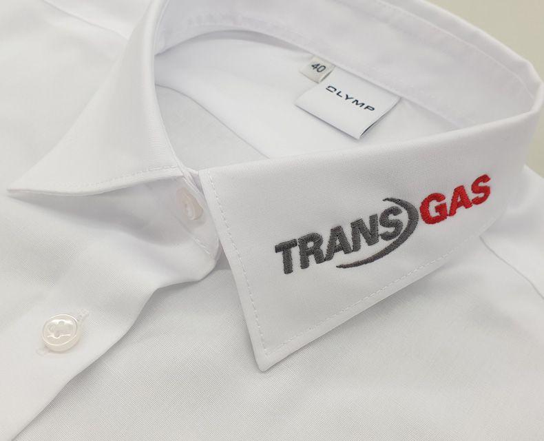 "OLYMP-Hemden bestickt mit Firmenlogo ""Zewotherm"""