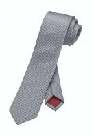 OLYMP Krawatte slim 6 cm -grau-kariert-