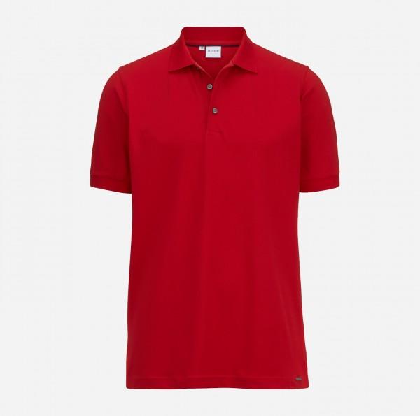 OLYMP Herren-Poloshirt Piqué, rot