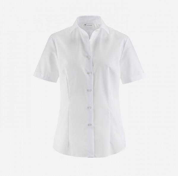 Bluse OLYMP Luxor modern fit, Kurzarm, weiß