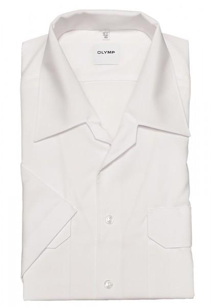 Hemd OLYMP FEUERWEHR modern fit, Kurzarm, weiß
