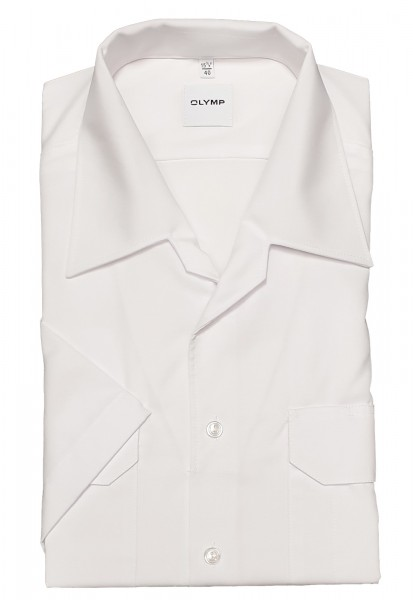 Hemd OLYMP FEUERWEHR comfort fit, Kurzarm, weiß