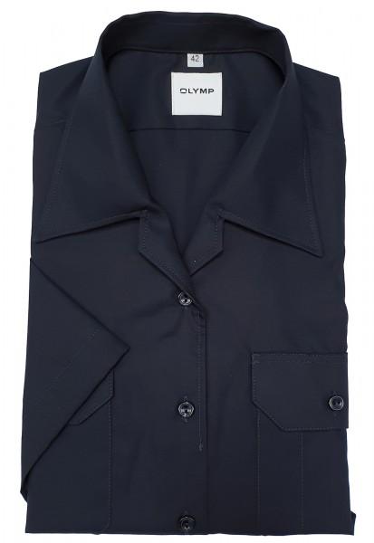 Bluse OLYMP FEUERWEHR tailliert, Kurzarm, marine