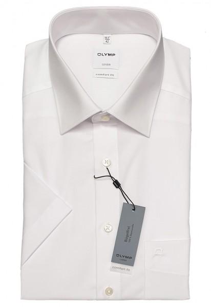 Kurzarm-Hemd OLYMP Luxor comfort fit, weiß