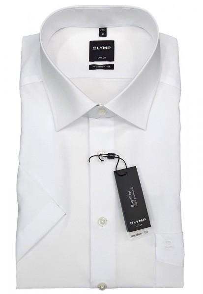Kurzarm-Hemd OLYMP Luxor modern fit, weiß