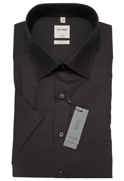 Kurzarm-Hemd OLYMP Luxor comfort fit, schwarz