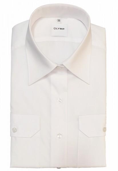Langarm-Bluse OLYMP FEUERWEHR tailliert, weiß