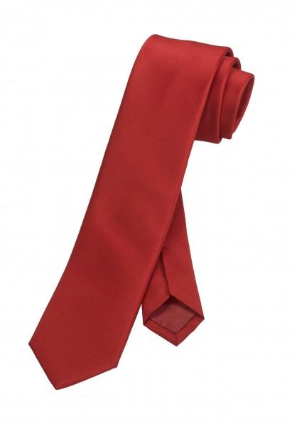 OLYMP Krawatte slim 6 cm -rot-