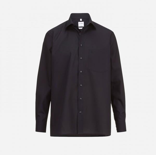 Hemd OLYMP Luxor comfort fit, Langarm, schwarz (ohne Brusttasche)