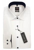 Langarm-Hemd OLYMP Level Five body fit, weiß/marine