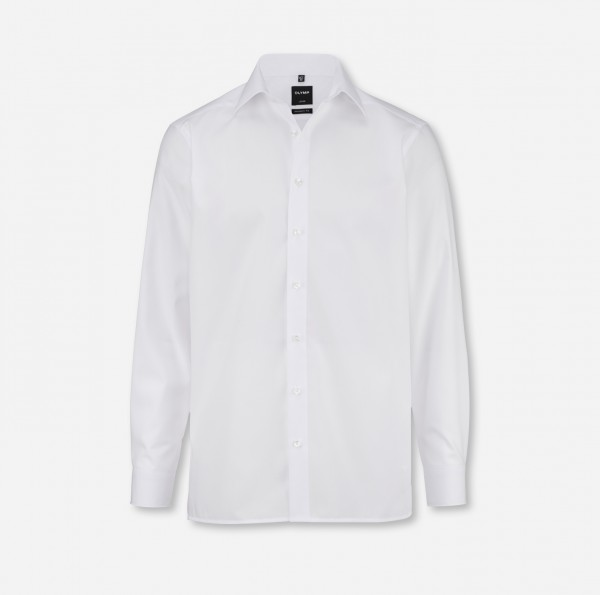 Hemd OLYMP Luxor modern fit, Langarm, weiß (ohne Brusttasche)
