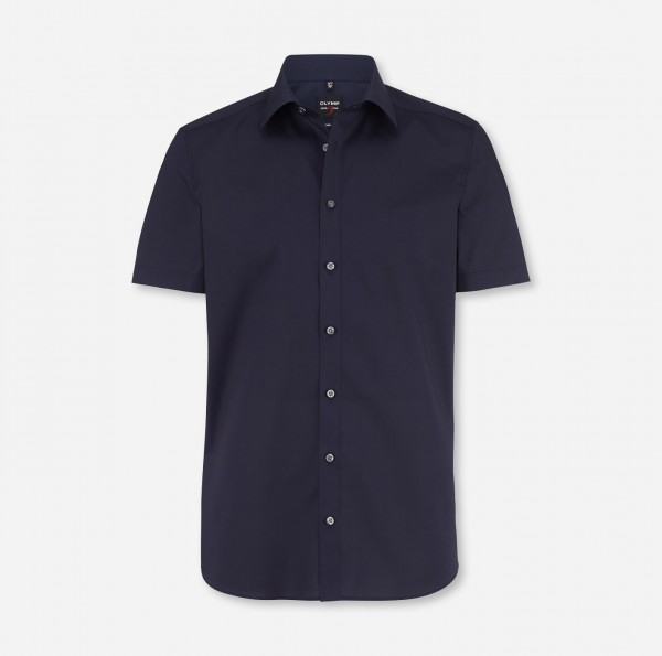 Hemd OLYMP Level Five body fit, Kurzarm, marine