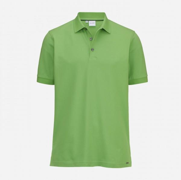 OLYMP Herren-Poloshirt Piqué, limegreen
