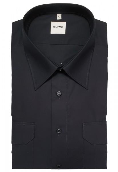 Hemd OLYMP FEUERWEHR comfort fit, Langarm, marine