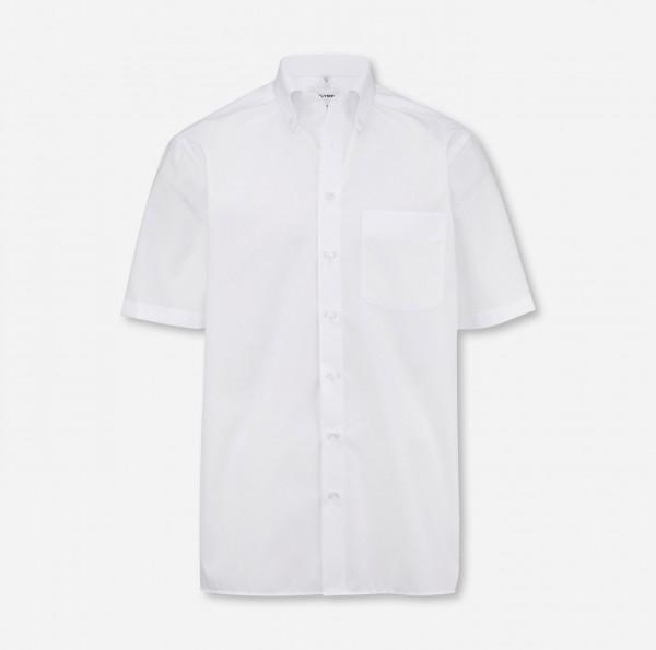 Hemd OLYMP Luxor comfort fit, Button-Down, Kurzarm, weiß