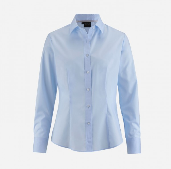 Bluse OLYMP Level Five body fit, Langarm, skyblue