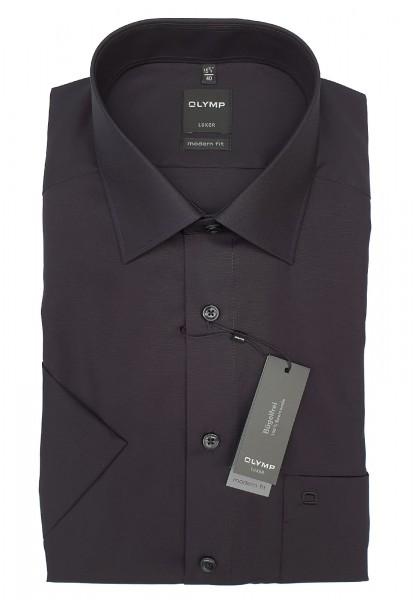 Kurzarm-Hemd OLYMP Luxor modern fit, schwarz
