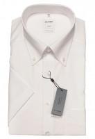 Kurzarm-Hemd OLYMP Luxor comfort fit, Button-Down, weiß