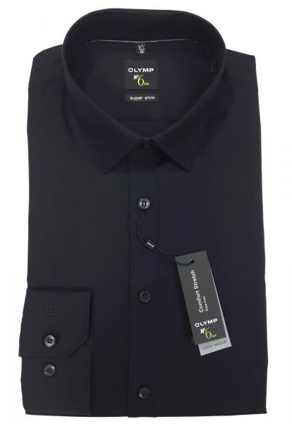 Langarm-Hemd OLYMP No. Six super slim, schwarz