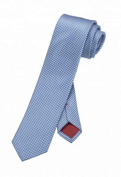 OLYMP Krawatte slim 6 cm -blau-kariert-