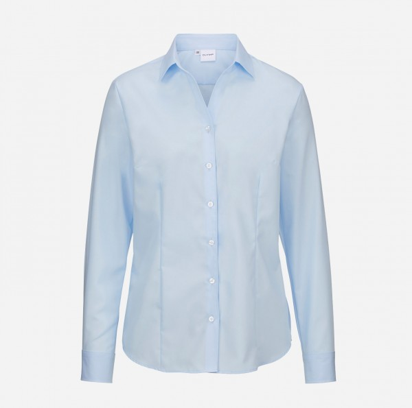 Bluse OLYMP Luxor comfort fit, Langarm, skyblue