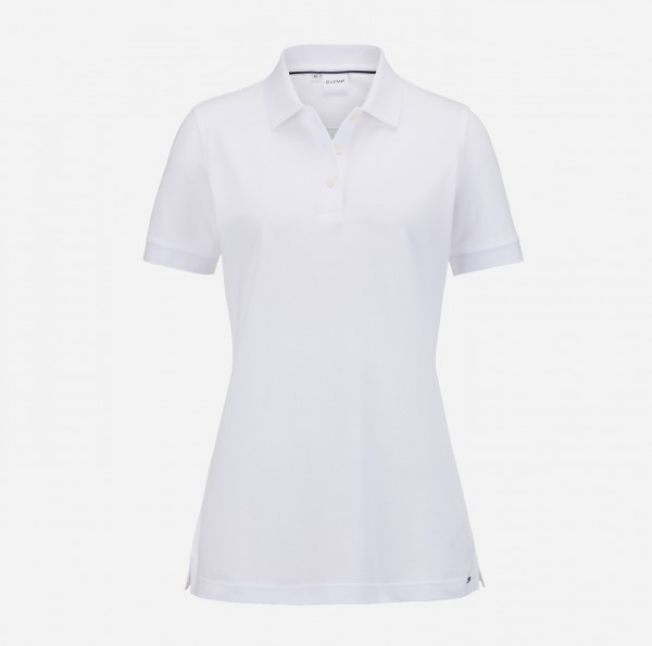 OLYMP Damen-Poloshirt Piqué, weiß