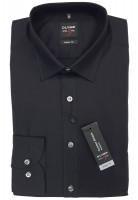 Langarm-Hemd OLYMP Level Five body fit, schwarz