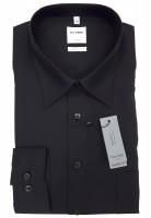 Langarm-Hemd OLYMP Luxor comfort fit, schwarz