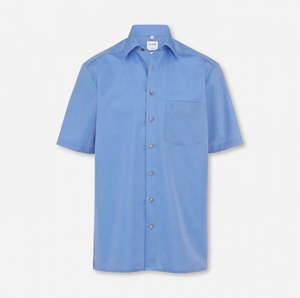 Hemd OLYMP Luxor comfort fit, Kurzarm, mittelblau