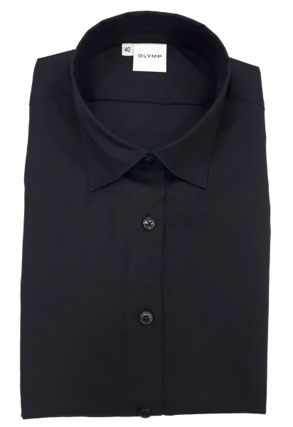 Langarm-Bluse OLYMP Luxor modern fit, schwarz