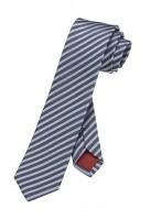 OLYMP Krawatte slim 6 cm -grau/blau-gestreift-
