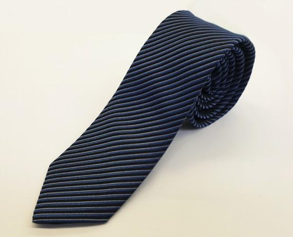 OLYMP Krawatte slim 6 cm -blau gestreift-