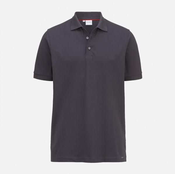 OLYMP Herren-Poloshirt Piqué, anthrazit