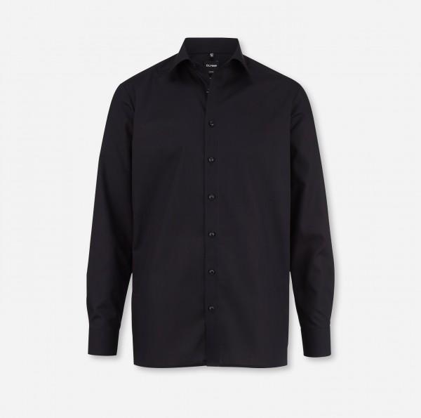 Hemd OLYMP Luxor modern fit, Langarm, schwarz (ohne Brusttasche)