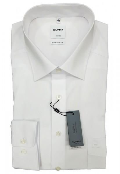 Langarm-Hemd OLYMP Luxor comfort fit, weiß