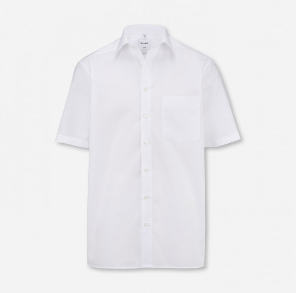 Hemd OLYMP Luxor comfort fit, Kurzarm, weiß