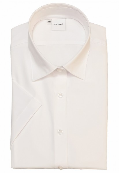 Kurzarm-Bluse OLYMP Luxor modern fit, weiß