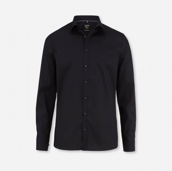 Hemd OLYMP No. Six super slim, Langarm, schwarz