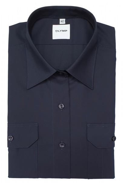 Langarm-Bluse OLYMP FEUERWEHR tailliert, marine