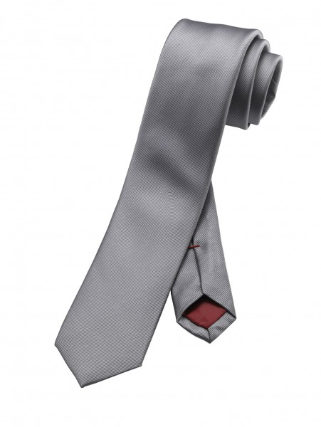 OLYMP Krawatte slim 6 cm -grau-