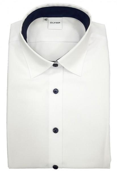 OLYMP Bluse Luxor Modell 15 -weiß/marine-