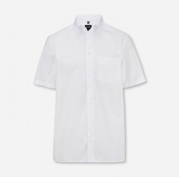 Hemd OLYMP Luxor modern fit, Button-Down, Kurzarm, weiß