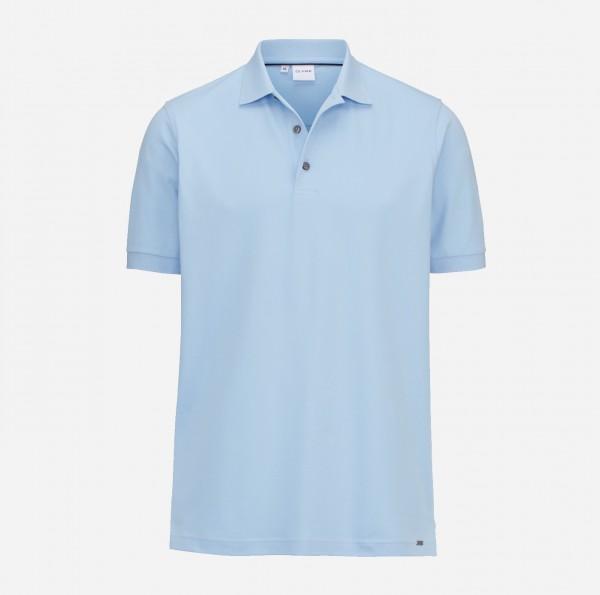 OLYMP Herren-Poloshirt Piqué, skyblue