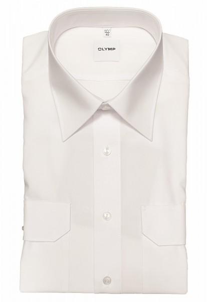 Hemd OLYMP FEUERWEHR comfort fit, Langarm, weiß