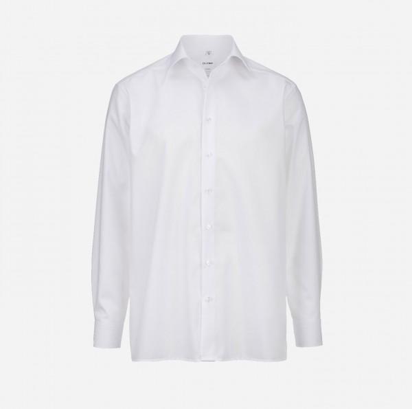 Hemd OLYMP Luxor comfort fit, Langarm, weiß (ohne Brusttasche)