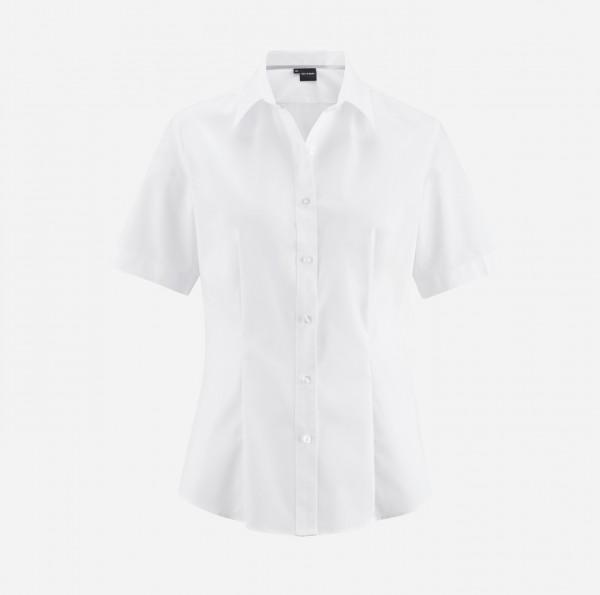 Bluse OLYMP Level Five body fit, Kurzarm, weiß