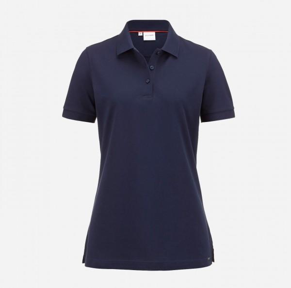 OLYMP Damen-Poloshirt Piqué, marine