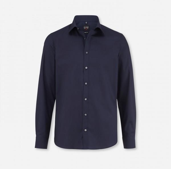 Hemd OLYMP Level Five body fit, Langarm, marine