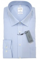 Langarm-Hemd OLYMP Luxor comfort fit, hellblau
