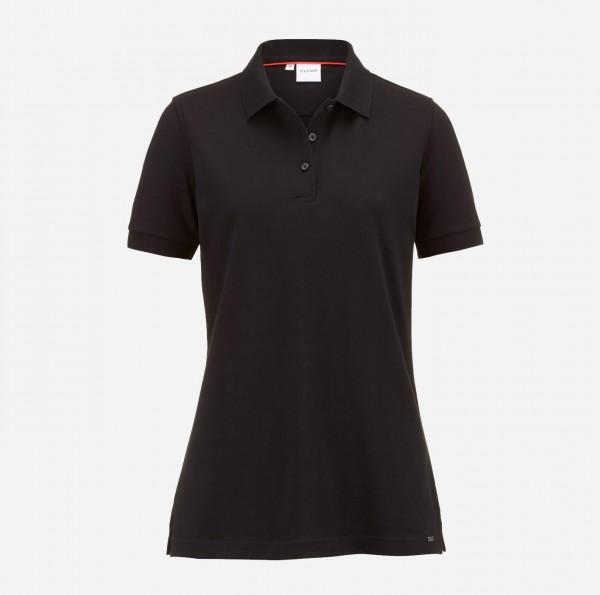 OLYMP Damen-Poloshirt Piqué, schwarz